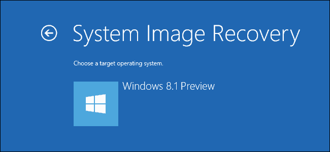 System Recovery Windows 8.1