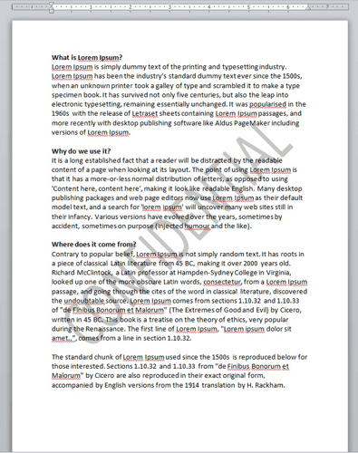 Watermark-in-Word-Document