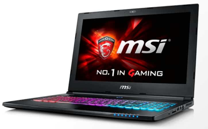 MSI laptops Ghost