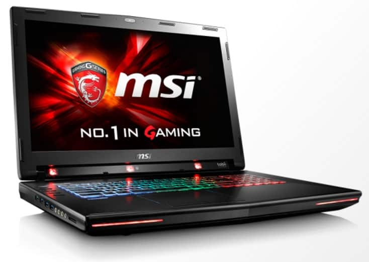 MSI laptops Tobii