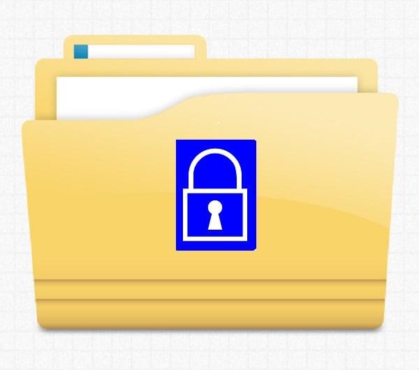 lock and folder