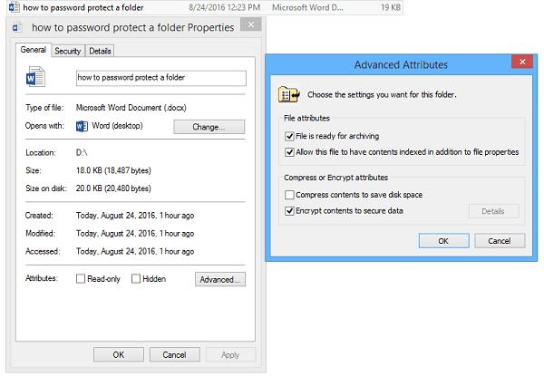 Windows file encryption system