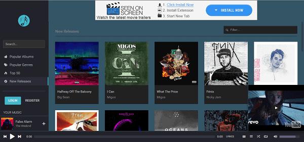 PlaylistSound homepage unblocked music sites