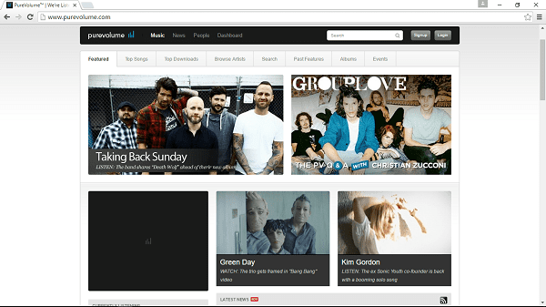PureVolume homepage listen to free music unblocked