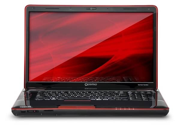Toshiba Qosmio X505-Q8100X red screen