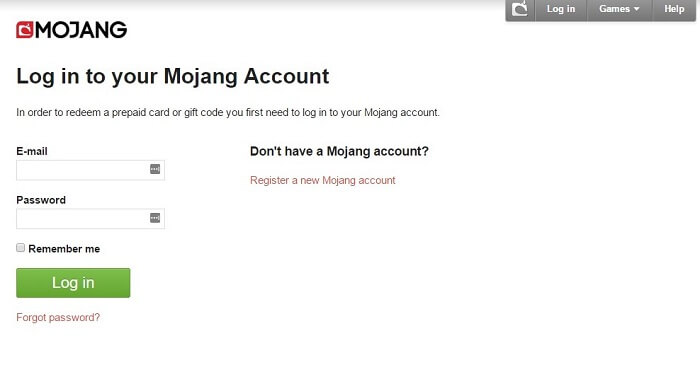 How to change your Minecraft name Mojang account login form