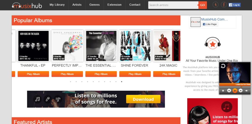 MusixHub unblocked music sites