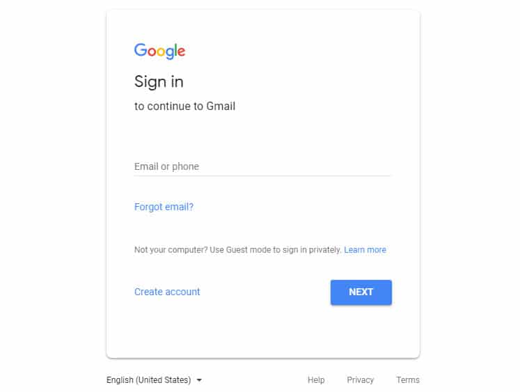 login to google in creating a gmail auto reply