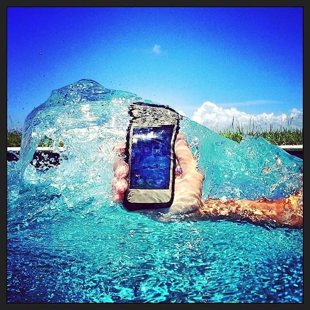 cellphone in the water
