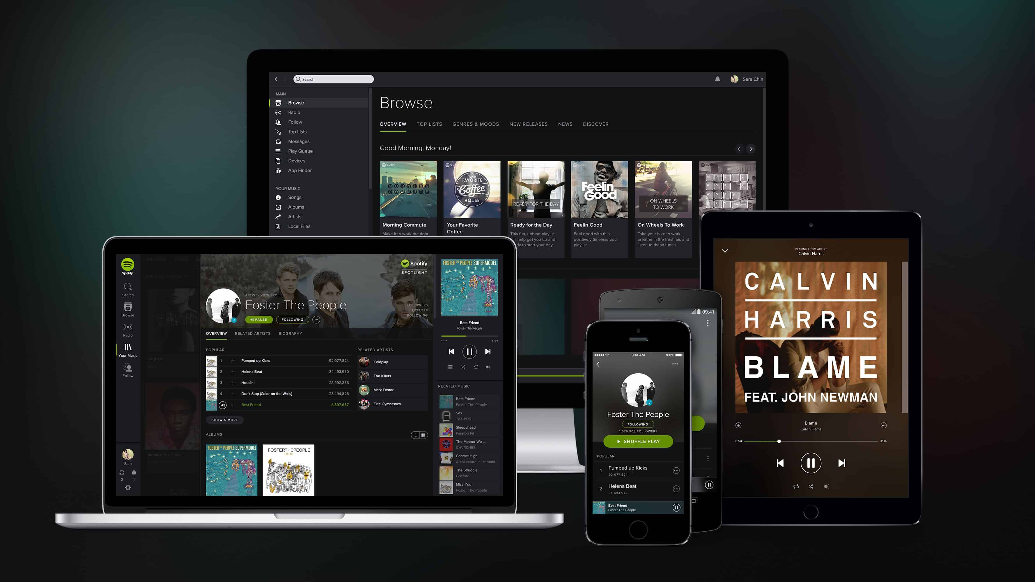 spotify app on mobile devices